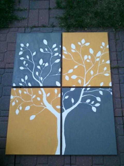 Four Canvas Wall Art DIY Ideas Pinterest