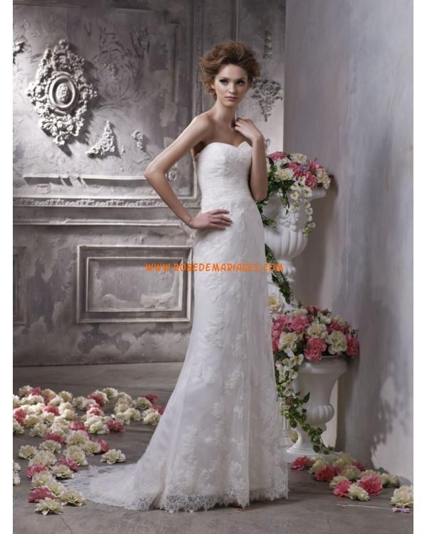 ... de mariée dentelle bustier en coeur  Robes de mariée  Pinterest