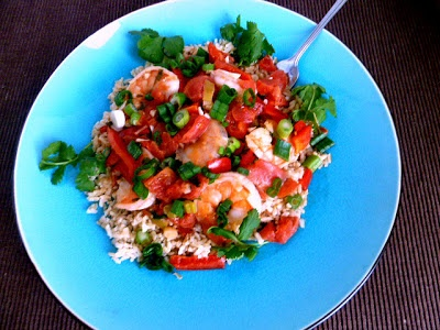 ... of Two Loves: Garlic Shrimp in Coconut Milk with Tomatoes and Cilantro