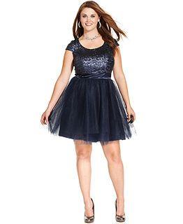 Prom Dresses: Macy\'s Junior Plus Prom Dresses