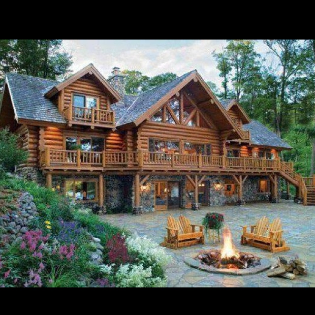 Cabin large joy studio design gallery best design for Huge log homes