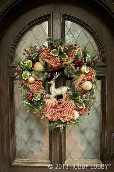 Hobby Lobby wreath idea | Holiday: Christmas | Pinterest