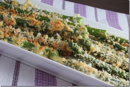 Asparagus Fries - 1/2 cup flour, 1 C panko, 1/2 teaspoon salt, Fresh ground pepper, 2 eggs, 2 tablespoons milk, Asparagus, Cooking spray