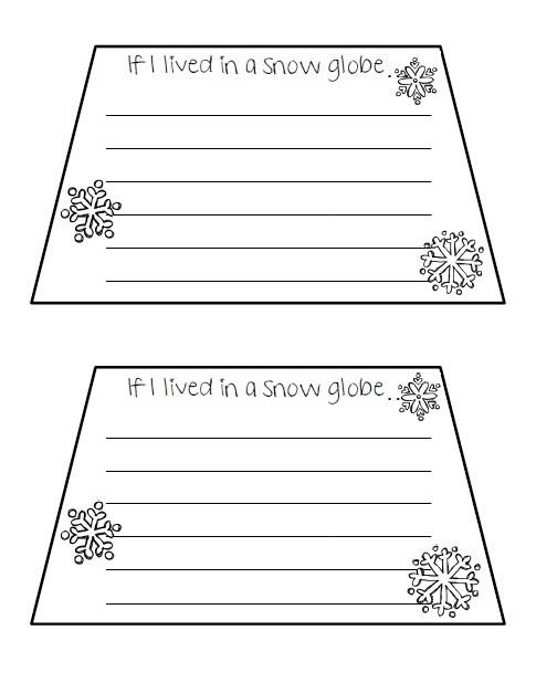 Snow globe writing freebie | Winter | Pinterest