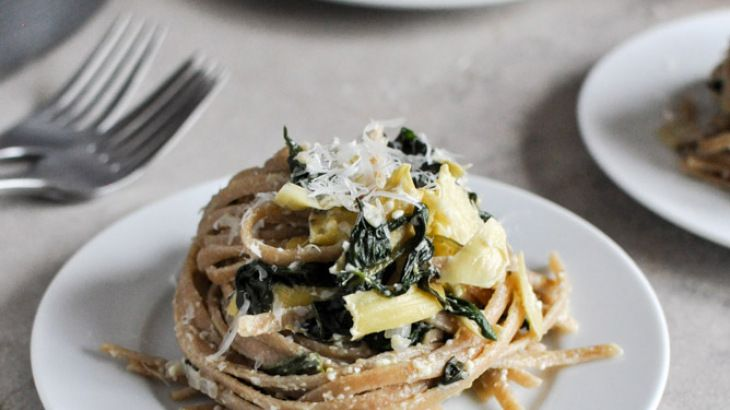 Spinach Linguine With Goat Cheese And Bacon Recipes — Dishmaps