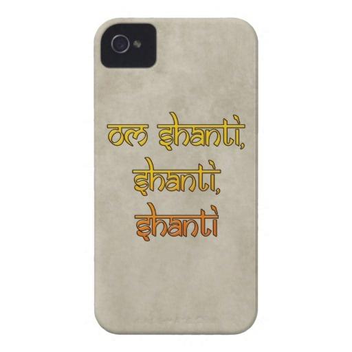 om shanti, shanti, shanti iPhone 4 cover