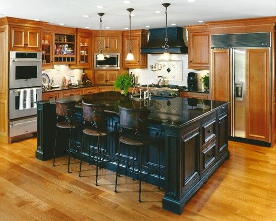 Accent island gourmet kitchens pinterest for Gourmet kitchen islands