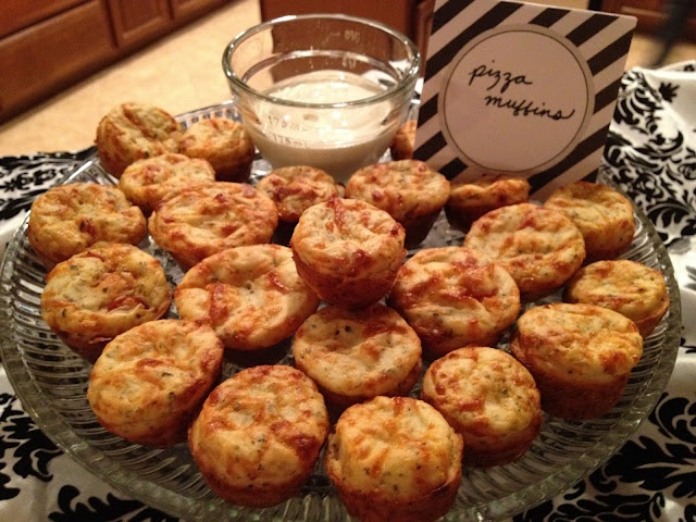Mini Pizza Muffins   Dips, Spreads and Snacks   Pinterest