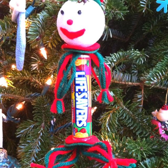 lifesaver candy yarn doll just bcause