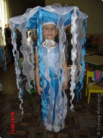 Костюм медузы для девочки своими руками из подручных материалов 33