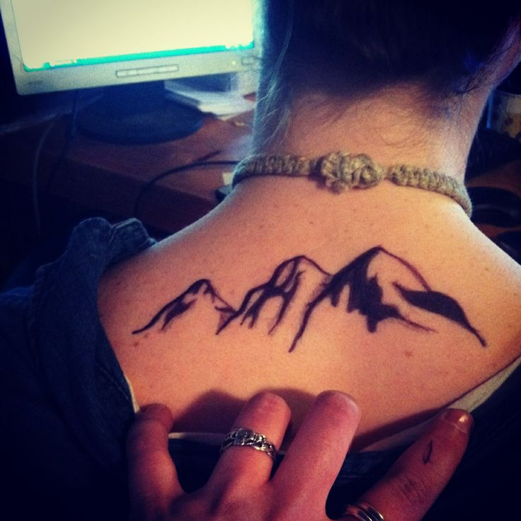 this is the idea i have, just smaller, more detail. Rocky Mountains (: #tattoo #tattedup