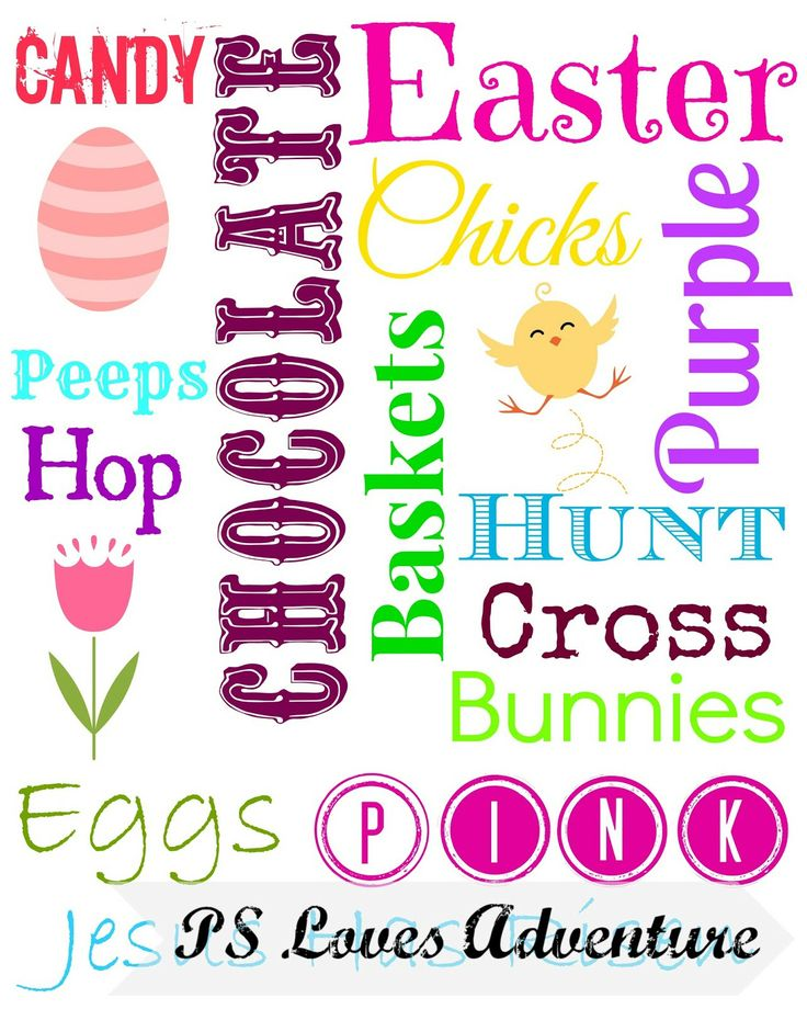 Free Easter Subway Art Printable | Words To Live By~ Holiday Edition ...