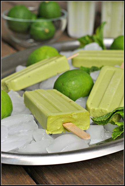 Avocado Ice Pops...100 calories, vegan, gluten-free, and dairy-free.