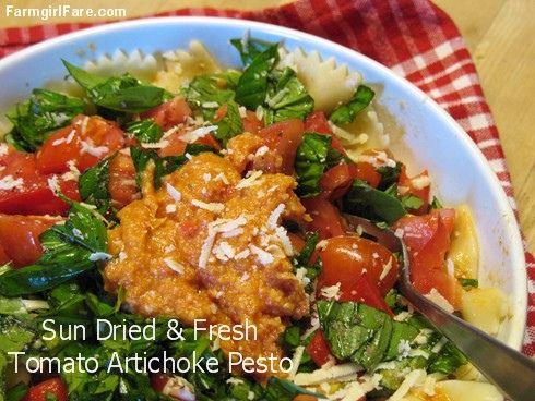 ... Cherry Tomatoes, Basil, and Sun Dried & Fresh Tomato Artichoke Pesto