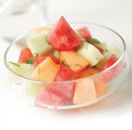 Melons with Ginger Syrup