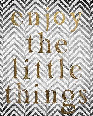 'Enjoy the Little Things' Art Print