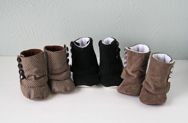 Running with scissors fleece lined button boots