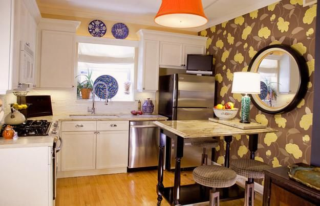 Modern wallpaper for small kitchens beautiful kitchen design and dec