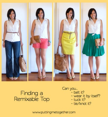 building remixable wardrobe series