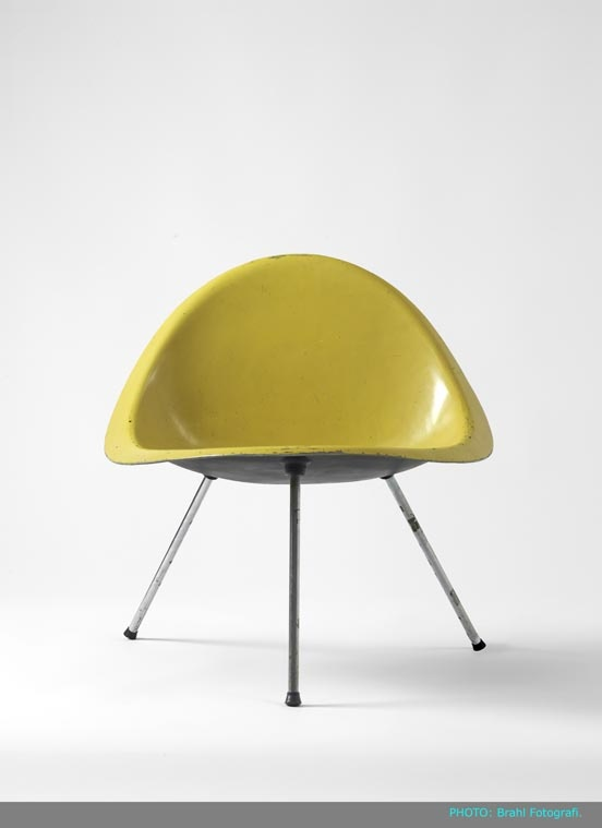 Danish designer Poul Kjærholm.  designed the aluminium moulden Shell Chair in1953