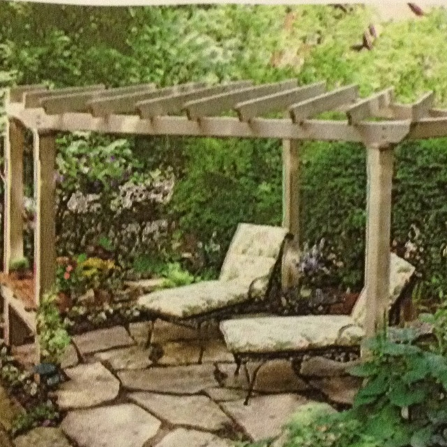 Angled pergola | Exterior Inspirations | Pinterest