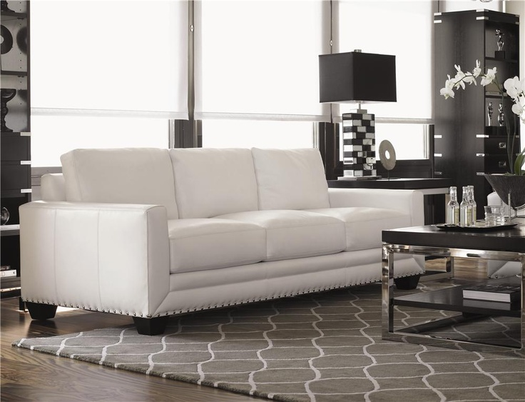 Quick Ship Upholstery Quick Ship Sapphire Leather Sofa By Lexington Home Brands Baer 39 S