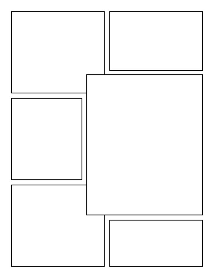 blank comic book panels