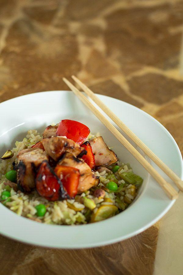 Thai-Style Chicken Rice Bowl ingredients: 1 pound skinless, boneless ...