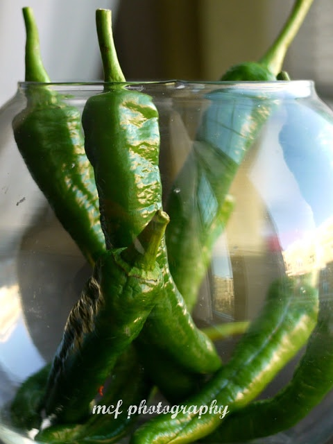 ... Green Chillis/ Long Finger Peppers Stuffed & Pickled - Indian Style