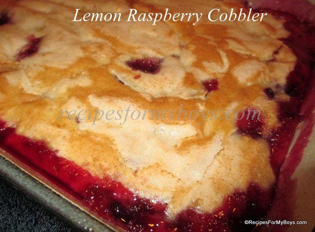 Lemon Raspberry Cobbler Recipes | Recipes for a non-Cook. | Pinterest
