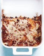 Mushroom and Black Bean Tortilla Casserole | Recipe