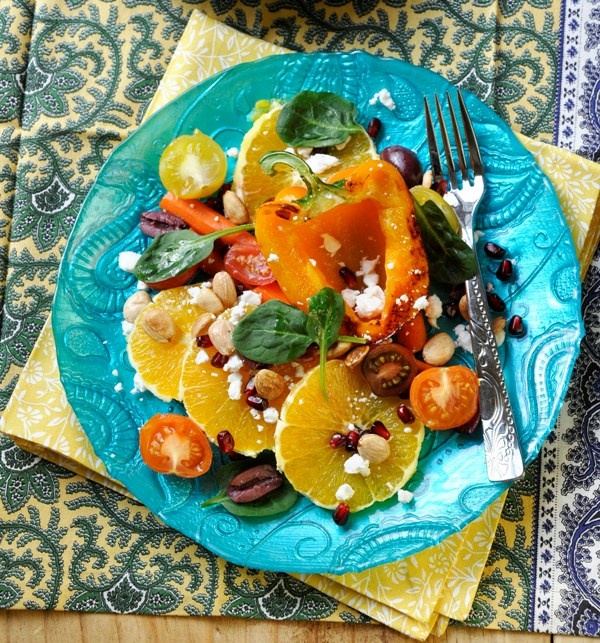 salad a medley of sweet roasted peppers amp carrots with orange amp ...