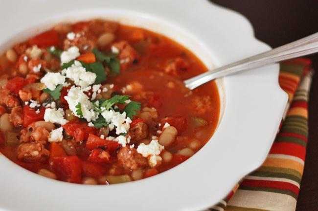 Creamy White Bean And Chorizo Soup Recipe — Dishmaps