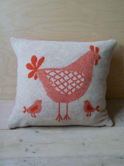вязать курица подушка