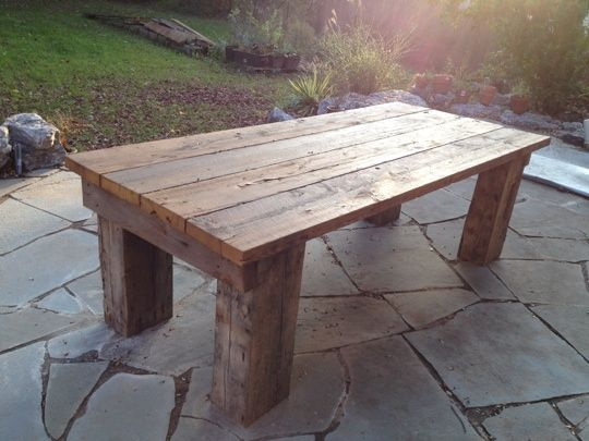 patio table. from the original headers and flooring from our 1862 ...