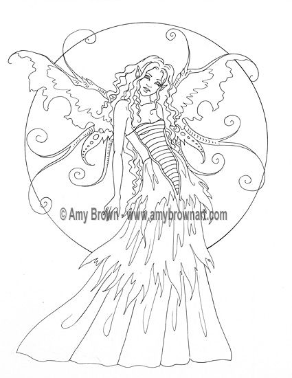 amy brown coloring pages free - photo#8