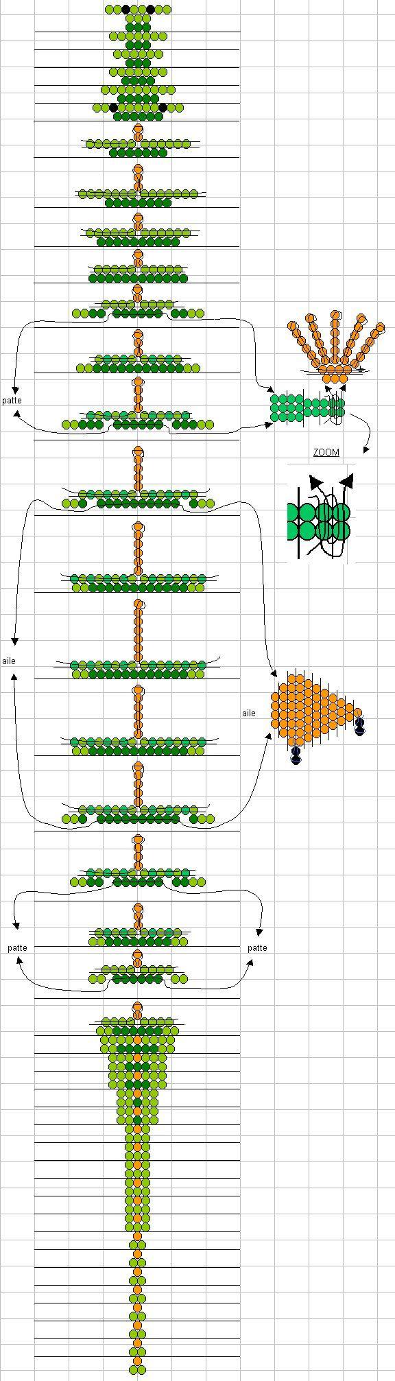 Бисера плетение со схемами дракон