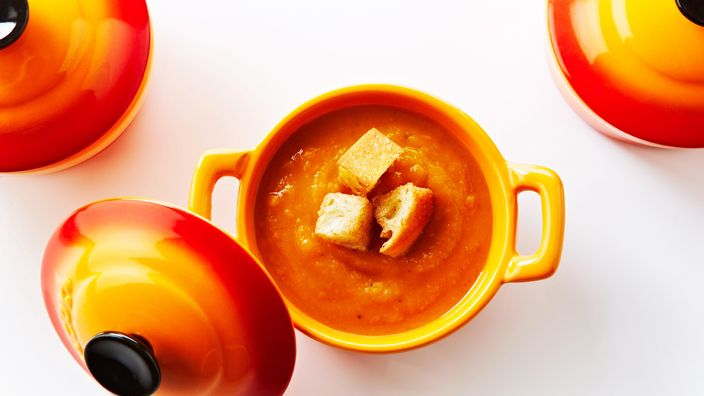 Roasted Butternut Squash and Sweet Potato Soup Recipe with Cinnamon S ...