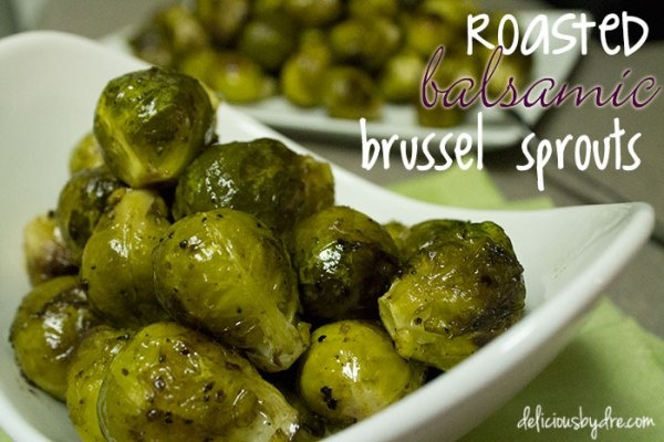 roasted balsamic brussel sprouts | side dishes | Pinterest