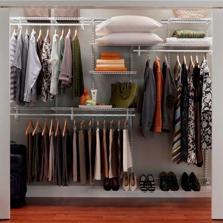 closetmaid closet organization shelftrack 7 ft 10 ft. Black Bedroom Furniture Sets. Home Design Ideas