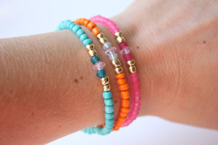 DIY Glass Beaded Bracelets