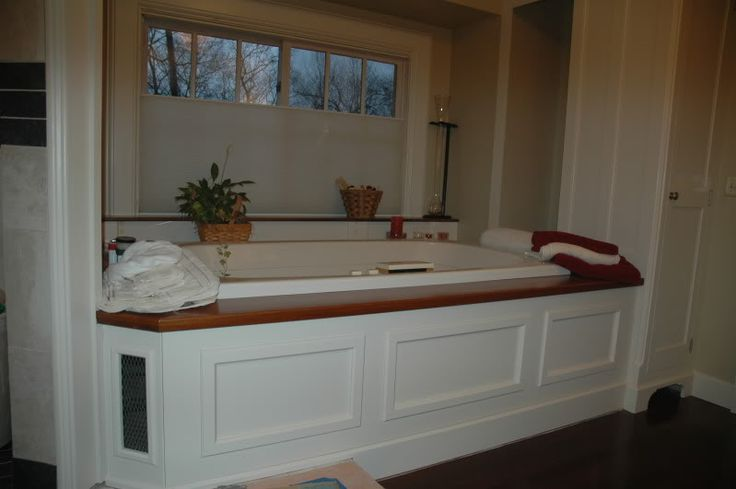 Tub surrounds with access bathroom inspiration pinterest for Bathroom access panel ideas