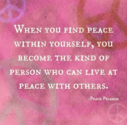 Inner Peace Quotes And Sayings. QuotesGram
