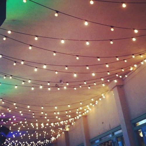 String Lights On Ceiling : fairy lights Celebrate Pinterest