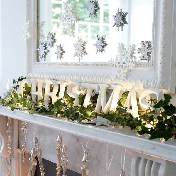 White christmas mantel piece display christmas pinterest for Mantel display ideas