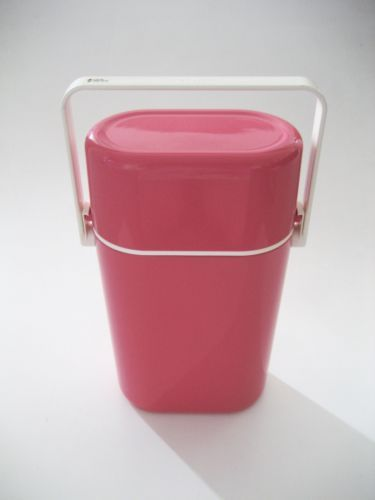 Pink retro decor wine drink cooler chiller carrier with for Decor wine cooler