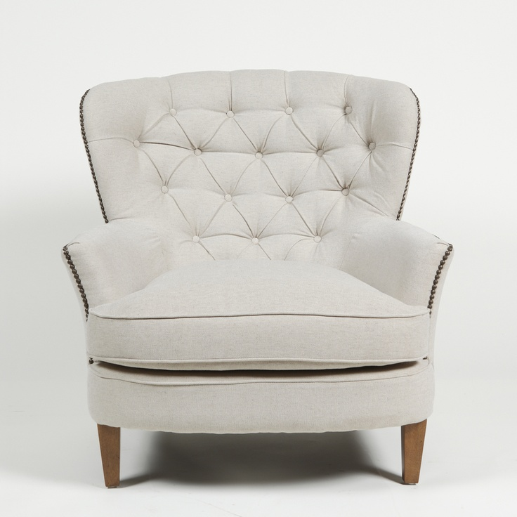 Latte pia tufted lounge chair overstock com