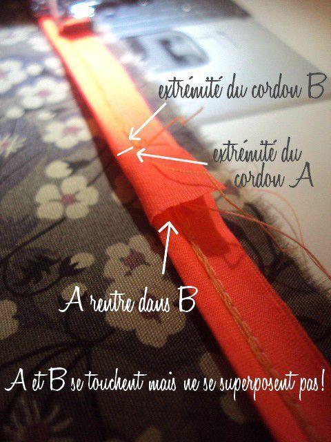 Tuto comment poser du passepoil couture technique pinterest - Comment poser du bidim ...