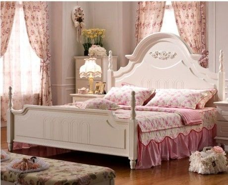Pink soft furnishings with small floral