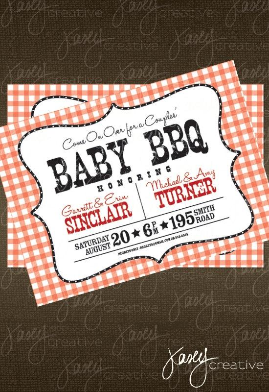 baby bbq invitation via etsy